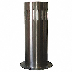 "48""H Stainless Steel Bollard Cover For Post Size with 12-3/4"" dia., Silver"