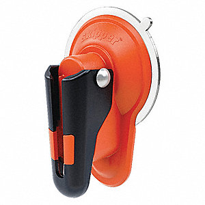 Plastic Suction Pad Holder/Receiver, Orange/Black