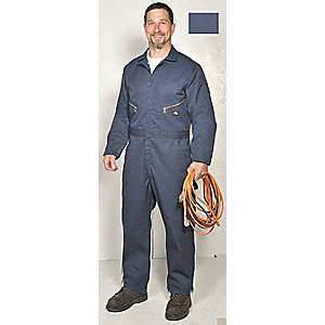 Long Sleeve Coverall, 7.75 oz, Dk Navy, S