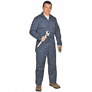 Long Sleeve Coverall, 7.75 oz, Dk Navy, 4XT