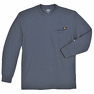 Long Sleeve T-Shirt,Cotton,Dk Navy,L