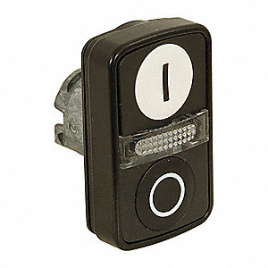 2-Head Metal Illuminated Multi-Head Operator, (2) Flush Buttons, (1) Light