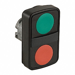 2-Head Metal Illuminated Multi-Head Operator, (2) Flush Buttons