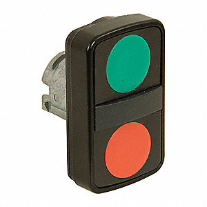 2-Head Metal Illuminated Multi-Head Operator, (1) Flush Button, (1) Extended Button