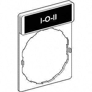 SCHNEIDER ELECTRIC 22mm Rectangular 1O11 Legend Plate