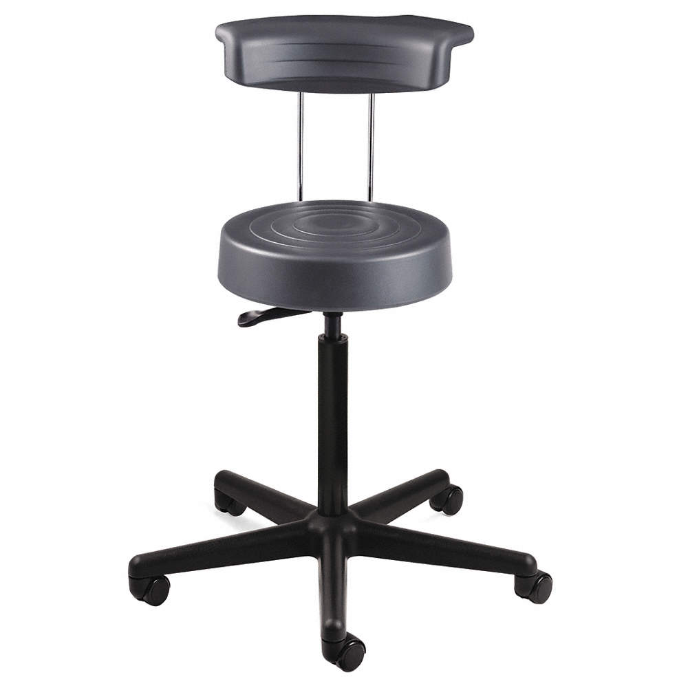 Stupendous Ergonomic Stool With 21 To 28 1 2 Seat Height Range And 300 Lb Weight Capacity Gray Pdpeps Interior Chair Design Pdpepsorg