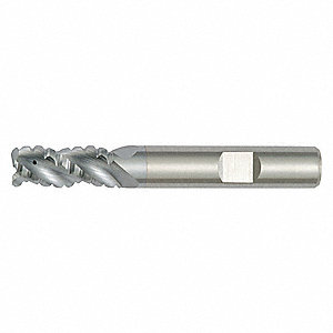 End Mill, 8.00mm Milling Diameter, Number of Flutes: 4, 16.00mm Length of Cut, TiCN, 49G9