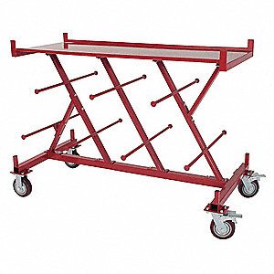 "60.5""L x 29.5""W x 46-1/4""H Black Wire Cart, 2000 lb. Load Capacity"
