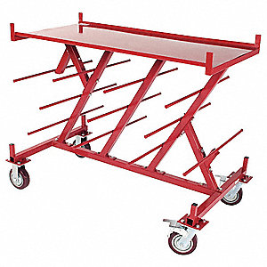Wire Cart,22 Shelves,1500 Lb Capacity