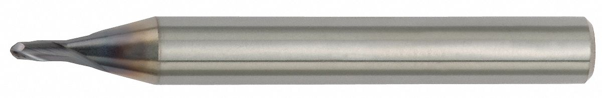 Ball End Mill,  3.00 mm,  Carbide,  Non-Coolant Through