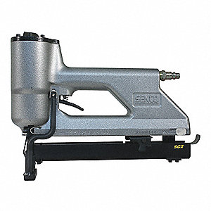 Air Stapler with Rear Exhaust, Pressure Range: 80 to 110 psi, Gray