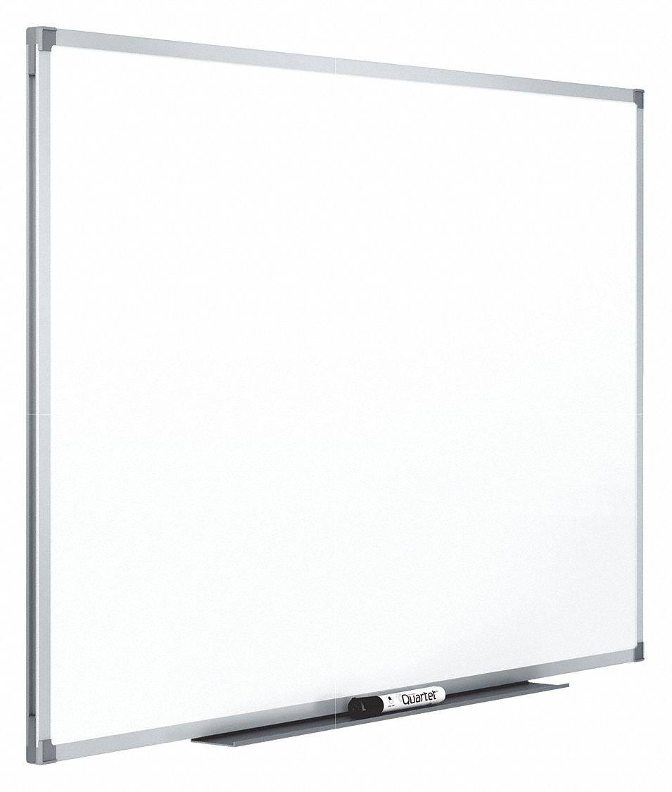 Gloss-Finish Melamine Dry Erase Board, Wall Mounted, 36 inH x 48 inW, White