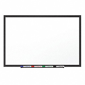 "Gloss-Finish Porcelain Dry Erase Board, Wall Mounted, 48""H x 72""W, White"