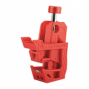 Circuit Breaker Lockout, 120/277, Clamp-On with Screw Lockout Type, Nylon, Stainless Steel