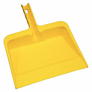 Hand Held Dust Pan,Yellow,Polyethylene