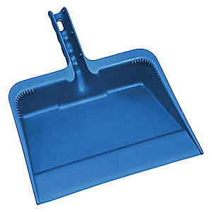 "Polypropylene Hand Held Dust Pan, Overall Length 13"", Overall Width 11-1/2"""