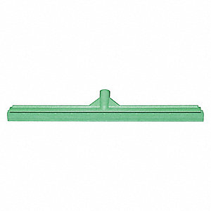"23-39/64""W Straight Rubber Floor Squeegee Without Handle, Green"