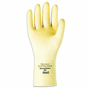 17.00 mil Natural Rubber Latex Chemical Resistant Gloves, Natural, Size 10, 1 PR