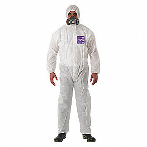 Hooded Coverall,Attached Boots,2XL,PK25