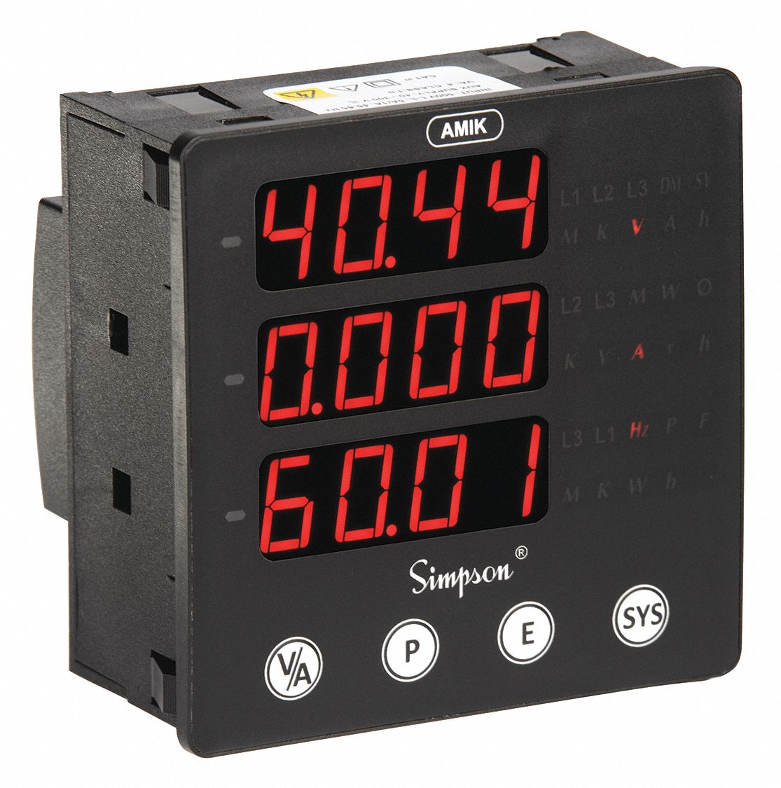 Simpson Electric Panel Meter 1359Md0-30 ACA 4.5 Ul Wv Model 3335