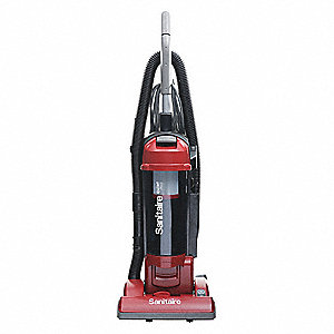 "Bagless Upright Vacuum with 13"" Cleaning Path, 135 cfm, HEPA Filter Type, 10 Amps"