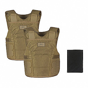 Ballistic Vest Package, NIJ 0101.06 Level 3A Ballistics, Small X-Long