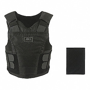 Ballistic Vest Package,LL,Black,2.40 lb.