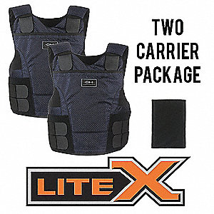 Ballistic Vest Package, NIJ 0101.06 Level 3A Ballistics, Large X-Long