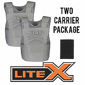 Ballistic Vest Package, NIJ 0101.06 Level 2 Ballistics, X-Large Regular