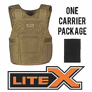 Ballistic Vest Package,LL,Tan,2.70 lb.
