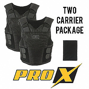 Ballistic Vest Package, NIJ 0101.06 Level 2 Ballistics, Medium Regular
