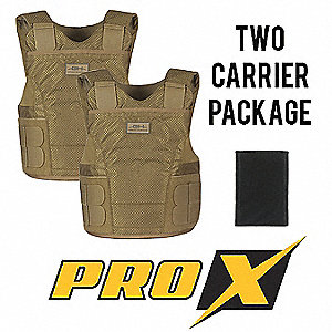 Ballistic Vest Package, NIJ 0101.06 Level 2A Ballistics, Medium X-Long