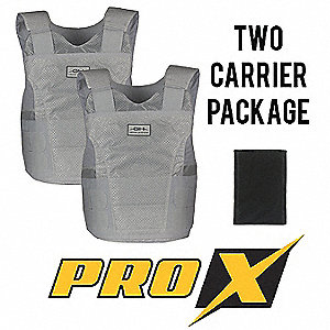 Ballistic Vest Package, NIJ 0101.06 Level 3A Ballistics, 2X-Large Long