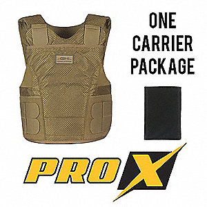 Ballistic Vest Package,S,Tan,4.80 lb.