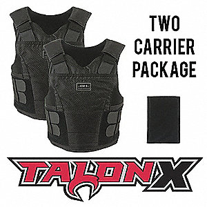 Multi-Threat Vest Package, NIJ 0101.06 Level 2 Ballistics and NIJ 0115.00 Spike 2, Large Regular