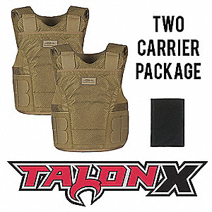 Multi-Threat Vest Package, NIJ 0101.06 Level 2 Ballistics and NIJ 0115.00 Spike 2, X-Large Long
