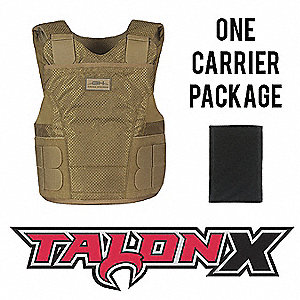 Multi-Threat Vest Pkg,SL,Tan,3.40 lb.