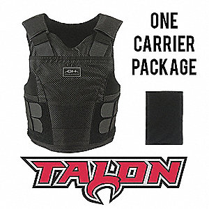 Spike Vest Package,LS,Black,1.10 lb.