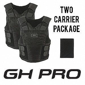 Ballistic Vest Package,2XL,Blk,1.23 psf