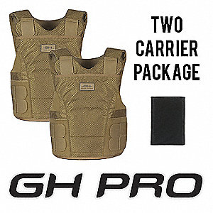 Ballistic Vest Package,MS,Tan,1.26 psf