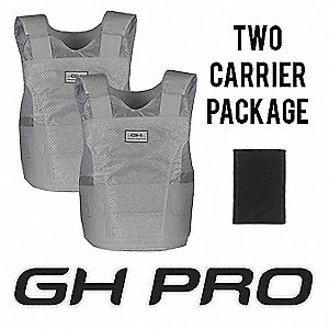 Ballistic Vest Package, NIJ 0101.05 Level 2 Ballistics, X-Large Long