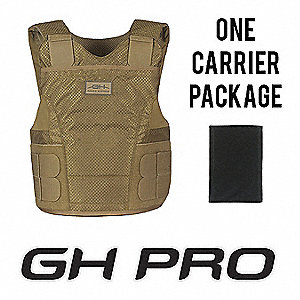 Ballistic Vest Package,M,Tan,3.87 lb.