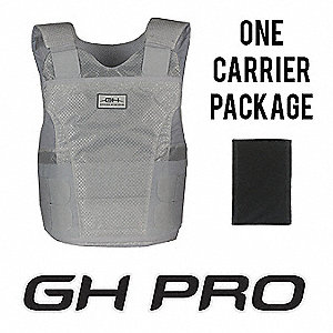 Ballistic Vest Package, NIJ 0101.05 Level 2 Ballistics, Large Short