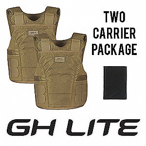 Armor Carrier, NIJ 0101.05 Level 2 Ballistics, Large X-Long