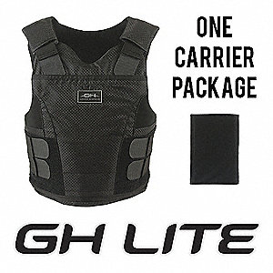 Ballistic Vest Package,M,Black,2.40 lb.