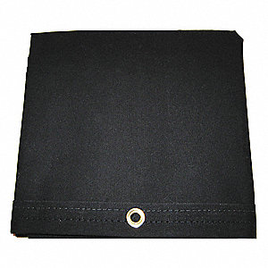 "20 mil Polyester Coated Cotton Canvas Waterproof Tarp, Black, 7 ft. 9"" x 12 ft. Finished Size"