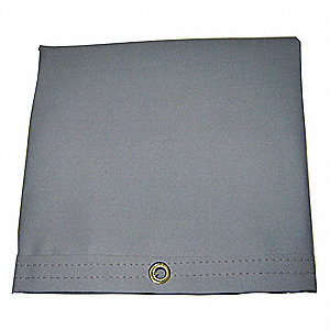 "20 mil Polyester Coated Cotton Canvas Waterproof Tarp, Gray, 9 ft. 4"" x 19 ft. 6"" Finished Size"