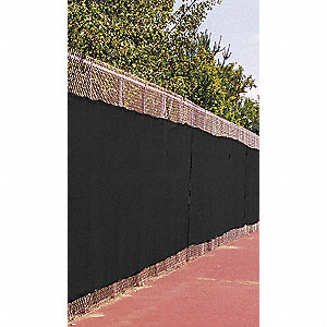 Black Fence Screen, 8 ft. Height, 50 ft. Length