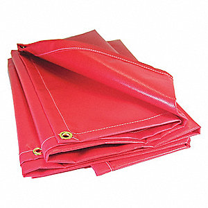 "20 mil Vinyl Tarp, Flame Resistant, Tear Resistant, Finished Size: 30"" x 20 ft."
