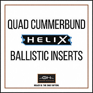 QUAD Cummerbund Ballistic Panel, For Use With QUAD Cummerbund Carrier, 500d Cordura